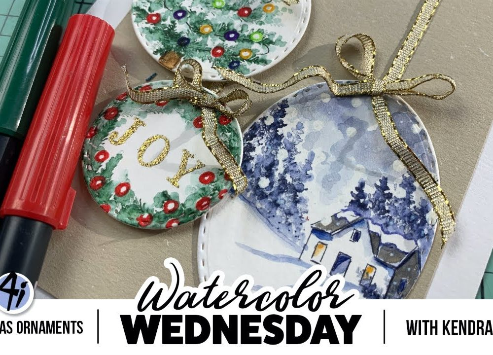 Ai Watercolor – Christmas Ornaments with Kendra Krebs